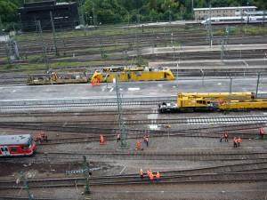 Entgleiste S-Bahn 14.09.2010